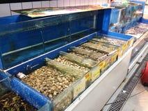 Zeevruchtensupermarkt Stock Afbeeldingen