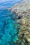 Zeewater en koraalrifachtergrond Royalty-vrije Stock Foto's