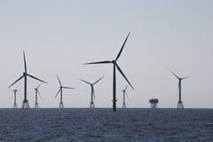 Zeewindlandbouwbedrijf stock afbeeldingen