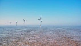 Zeewindturbines Stock Afbeelding