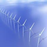 Zeewindturbines Royalty-vrije Stock Afbeeldingen