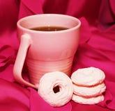 Zefiro rosa e tazza rosa Fotografie Stock
