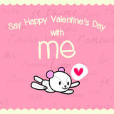 Zeg de dag van de gelukkige valentijnskaart met me 02-01 Stock Afbeelding