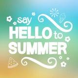 Zeg hello aan de zomer stock illustratie