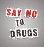Zeg nr aan drugsaffiche Royalty-vrije Stock Foto's