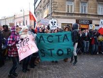 Zeg Nr aan HANDELINGEN, Lublin, Polen Royalty-vrije Stock Fotografie