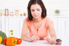 Zeg nr aan ongezond voedsel! Stock Afbeelding