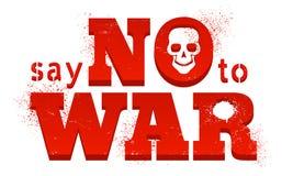 Zeg nr aan oorlog Royalty-vrije Stock Afbeelding