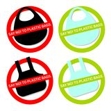 Zeg nr aan Plastic Zakken royalty-vrije illustratie
