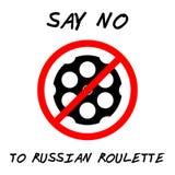 ZEG NR AAN RUSSISCHE ROULETTE stock illustratie