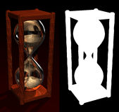 zegar alfa piasku Zdjęcie Stock