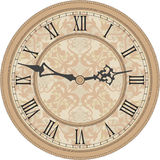 zegar antique do ściany Zdjęcia Royalty Free