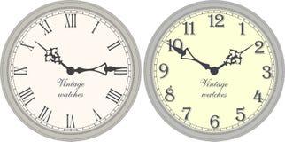 zegar antique do ściany Ilustracja Wektor