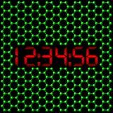 zegar atomowy cyfrowy royalty ilustracja