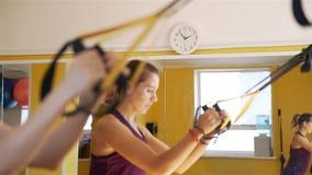 Zegar cyka podczas gdy sprawno?ci fizycznej szkolenie zdjęcie wideo