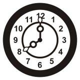 Zegar, czarna sylwetka Zdjęcia Stock