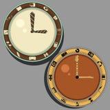 Zegar dla biura i muzyka Zdjęcia Royalty Free