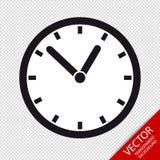 Zegar - Editable Wektorowa ikona - Odizolowywający Na Przejrzystym tle Zdjęcie Royalty Free