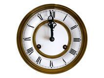 zegar fasonująca stara ściana Fotografia Stock