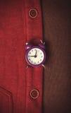 Zegar i część odziewamy. Fotografia Stock