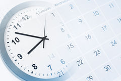 Zegar i Kalendarz Obraz Stock