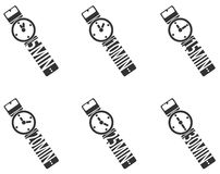 Zegar ikony set Obrazy Royalty Free