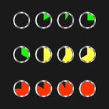 Zegar ikony ustawiać Zdjęcia Royalty Free