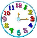 zegar jest dzieci 3 d Fotografia Royalty Free