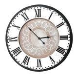 zegar liczy rocznik rzymską ścianę zdjęcia stock