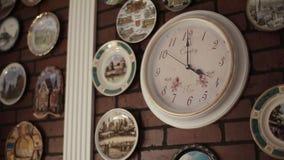 Zegar na ścianie zbiory wideo
