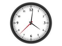 Zegar na białym tle Zdjęcie Royalty Free