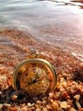 zegar na plaży Zdjęcie Stock