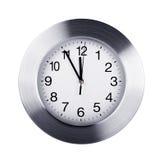 zegar nad odizolowane w ścianie white Zdjęcie Stock