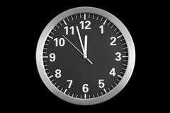 zegar nad odizolowane w ścianie white Zdjęcia Stock