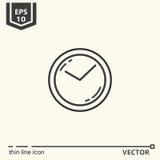 zegar nad odizolowane w ścianie white Jeden ikona - biurowe dostawy, serie Fotografia Royalty Free
