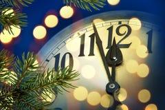 zegar nowego roku Obrazy Royalty Free