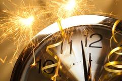 zegar nowego roku Obrazy Stock