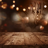 zegar nowego roku Obraz Stock