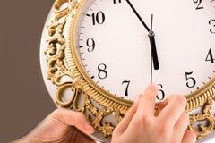 zegar odizolowane Obrazy Royalty Free