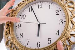 zegar odizolowane Zdjęcia Royalty Free