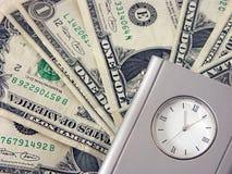 zegar pieniądze Zdjęcia Stock