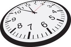 zegar pojedynczy białe tło Zdjęcia Stock