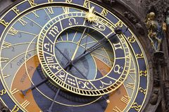 zegar Prague astronomiczne Obraz Stock