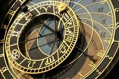 zegar Prague astronomiczne Zdjęcie Royalty Free