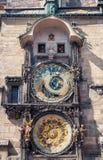 zegar Prague astronomiczne Obrazy Stock