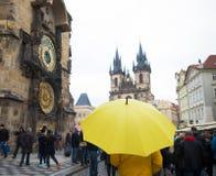 zegar Prague astronomiczne Obrazy Royalty Free