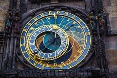 zegar Prague astronomiczne Fotografia Royalty Free