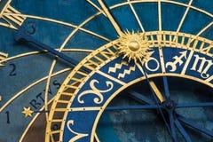 2 zegar Prague astronomiczne Zdjęcie Royalty Free