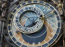 zegar Prague astronomiczne Zdjęcia Royalty Free