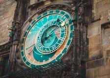 zegar Prague astronomiczne Punkt zwrotny Czeh Obraz Stock